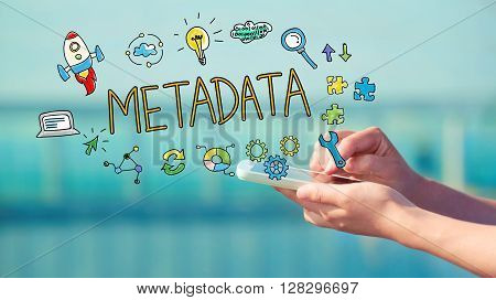 Metadata Concept With Smartphone