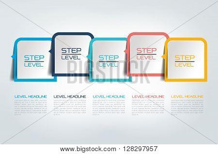 Step by step template, timeline, diagram, scheme.