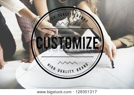 Customize Create Innovate Modify Creativity Concept