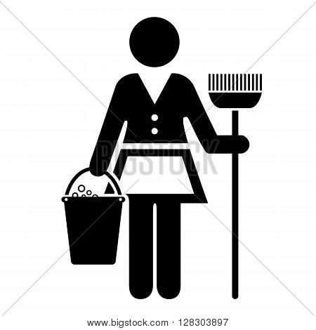 Maid vector icon isolated on white background