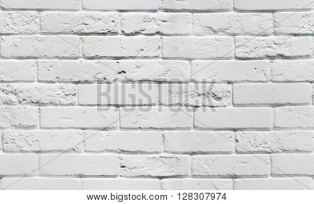 White brick wall. Seamless background pattern. White painted brickwall seamless texture. Seamless white background.