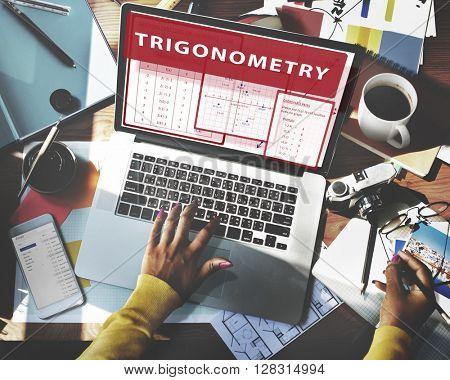 Trigonometry Mathematics Calculation Chart Concept