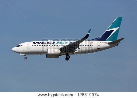 Westjet Airlines Boeing 737-700 Airplane