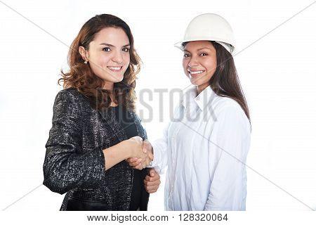 Womans Partnership Handshake