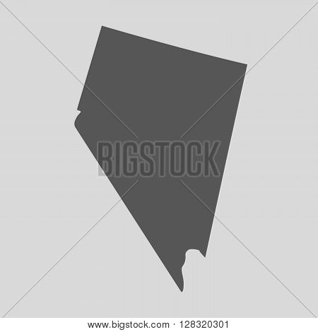 Black map of the State of Nevada - vector illustration. Simple flat map State of Nevada.