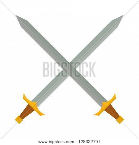 Cross swords vector illustration.