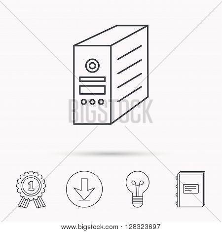 Computer Server Icon Vector Photo Free Trial