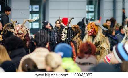 Editorial,14St February 2016: Selestat, France: Carnival And Parade Throught The Streets.