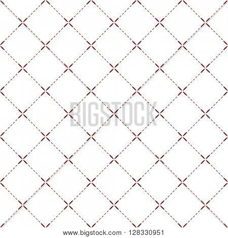 Tilled seamless background with red petal lines