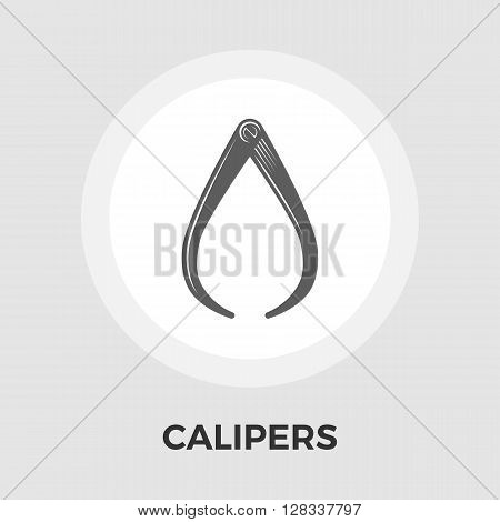 Calipers icon vector. Flat icon isolated on the white background. Editable EPS file. Vector illustration.