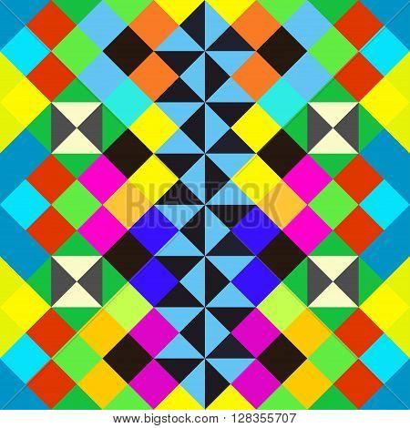 bright beautiful polygons abstract geometric seamless pattern