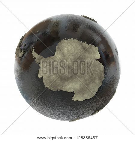 Antarctica On Earth Of Oil