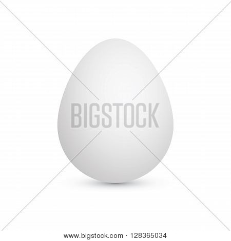 White chicken egg isolated on white background