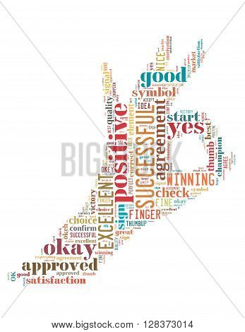 Ok Sign, Word Cloud Concept 6