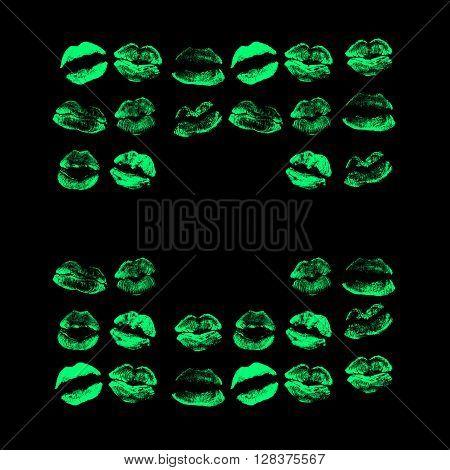 Beautiful Green Lips