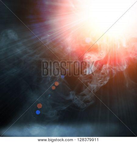 Illustraction Of Blue Spot Light