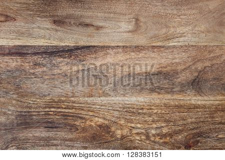 Wooden table with rustic dark brown structure