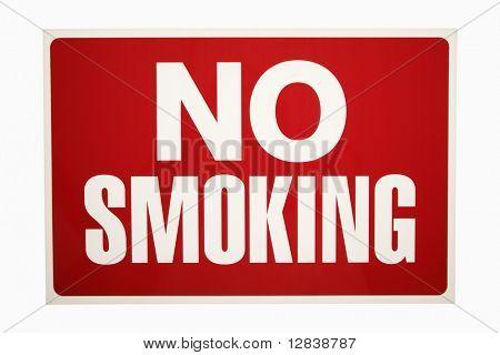 Red no smoking sign.