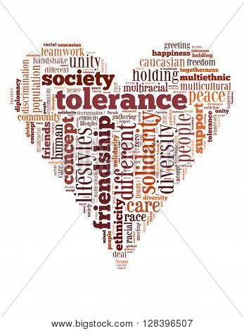 Tolerance Heart Word Cloud 4