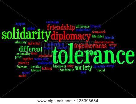 Tolerance Word Cloud Concept 3