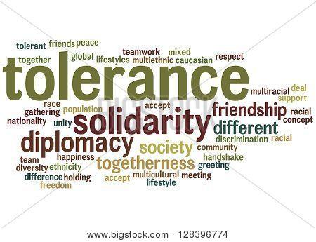 Tolerance Word Cloud Concept 4