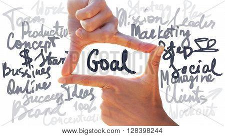 Gesture Photo Hands Frame Goal Business Concept