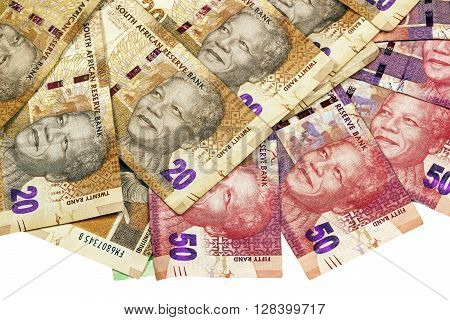 South African Twenty And Fifty Rand  Bank Notes