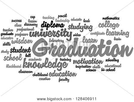 Graduation, Word Cloud Concept 9