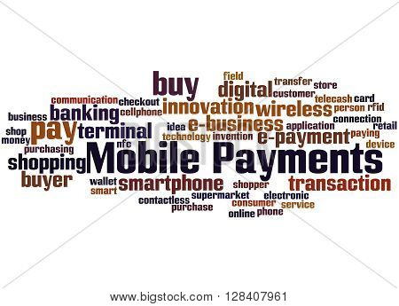 Mobile Payments, Word Cloud Concept