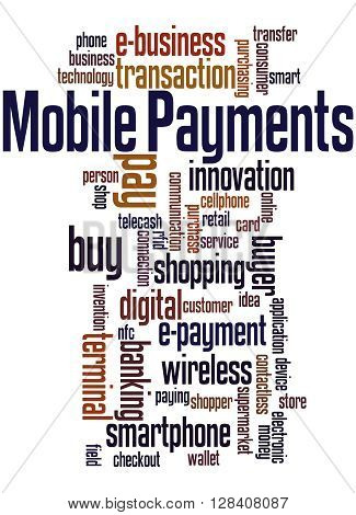 Mobile Payments, Word Cloud Concept 7