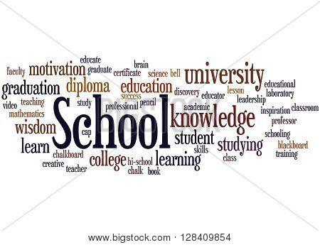 School, Word Cloud Concept 3