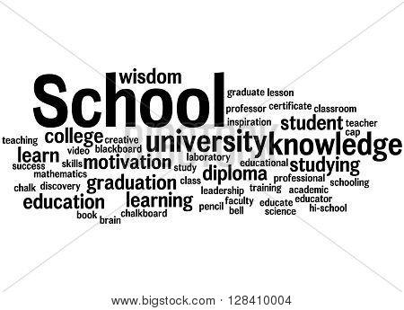 School, Word Cloud Concept 7