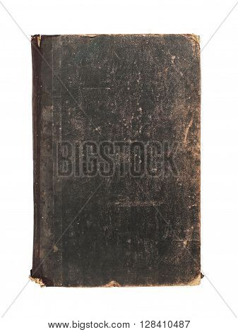 Vintage obsolete grunge book isolated at white
