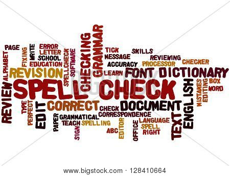 Spell Check, Word Cloud Concept 2