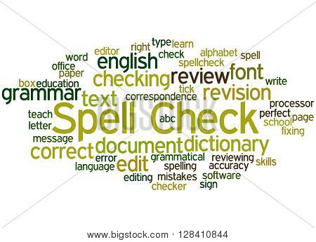 Spell Check, Word Cloud Concept 8