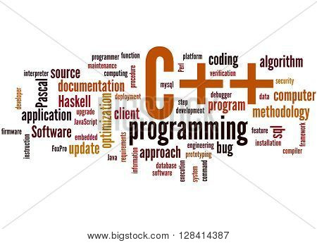 C++ Programming, Word Cloud Concept 3