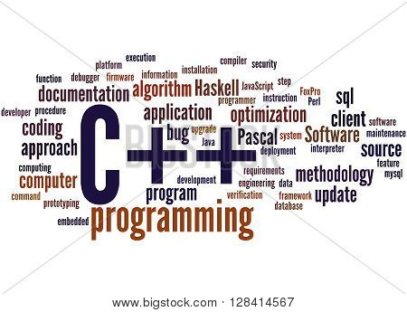 C++ Programming, Word Cloud Concept 9