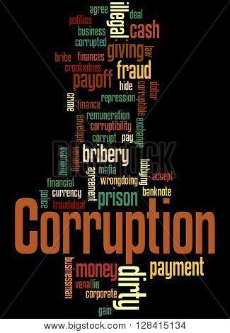Corruption, Word Cloud Concept 4