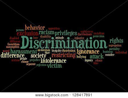 Discrimination, Word Cloud Concept 6