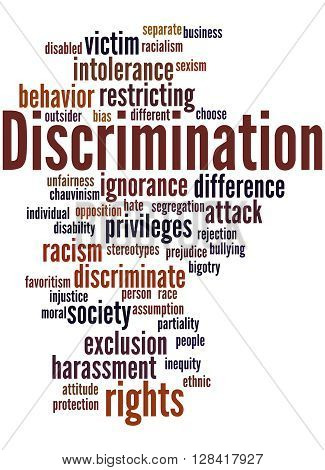 Discrimination, Word Cloud Concept 8
