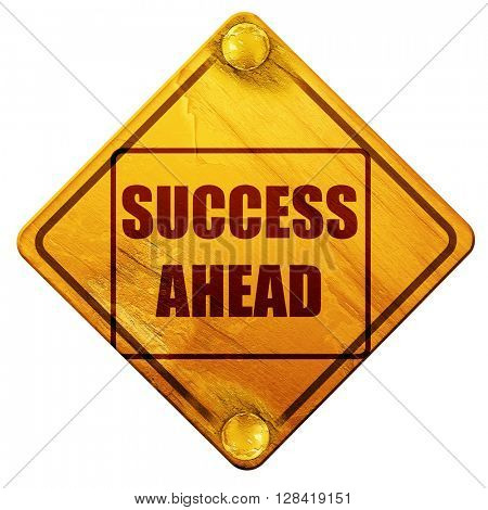 Success sign with smooth lines, 3D rendering, isolated grunge ye