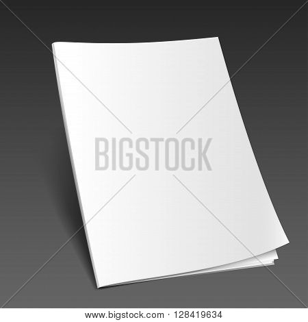 Blank magazine mockup template. Opened magazine. Realistic vector EPS10 illustration.3d