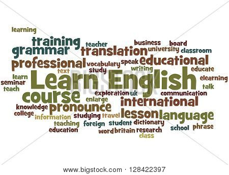 Learn English, Word Cloud Concept 7