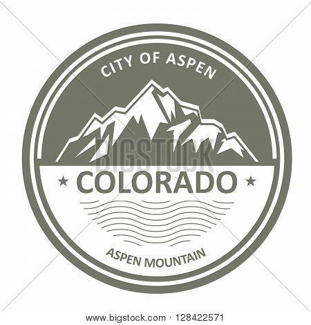 Snowbound Rocky Mountains - Colorado Aspen label