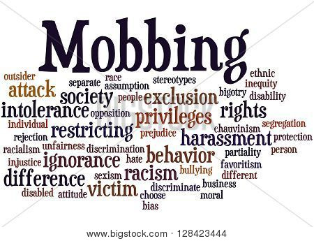 Mobbing, Word Cloud Concept