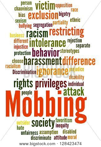 Mobbing, Word Cloud Concept 3