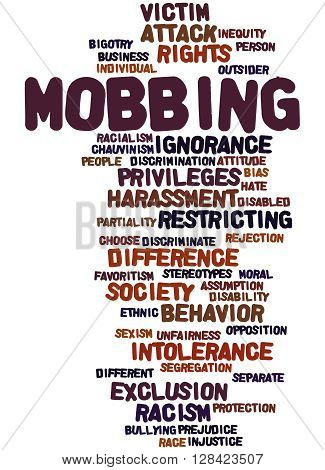 Mobbing, Word Cloud Concept 6