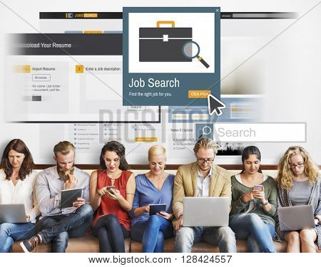 Job Search Career Recruitment Occupation Career Concept