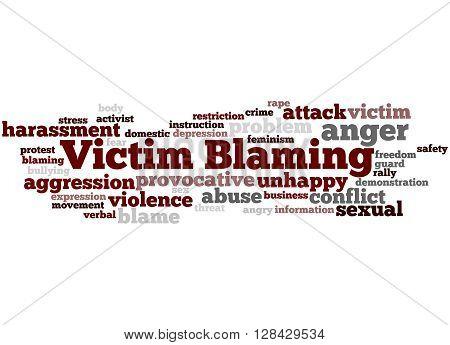 Victim Blaming, Word Cloud Concept 5