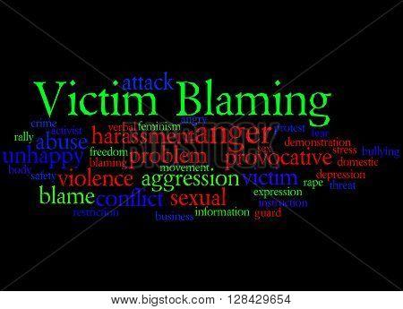 Victim Blaming, Word Cloud Concept 9